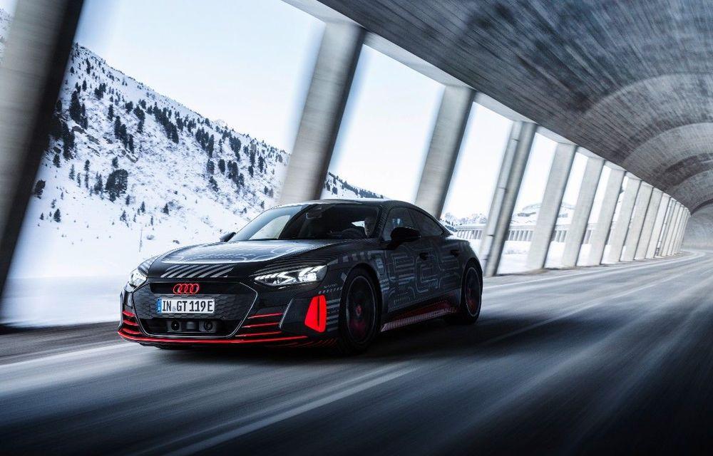 Imagini noi cu Audi e-tron GT: modelul electric va fi prezentat oficial în 9 februarie - Poza 1
