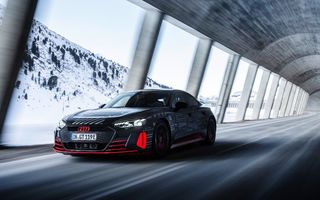 Imagini noi cu Audi e-tron GT: modelul electric va fi prezentat oficial în 9 februarie