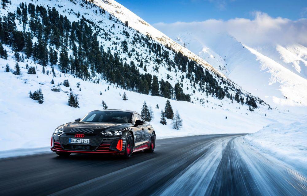 Imagini noi cu Audi e-tron GT: modelul electric va fi prezentat oficial în 9 februarie - Poza 7