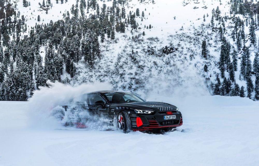 Imagini noi cu Audi e-tron GT: modelul electric va fi prezentat oficial în 9 februarie - Poza 11