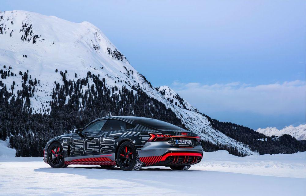 Imagini noi cu Audi e-tron GT: modelul electric va fi prezentat oficial în 9 februarie - Poza 5