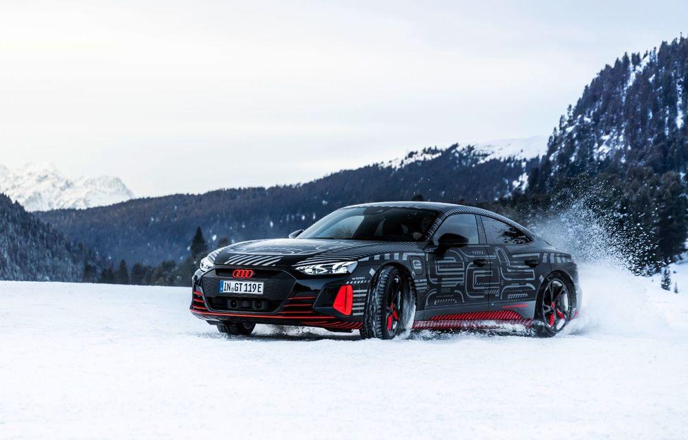 Imagini noi cu Audi e-tron GT: modelul electric va fi prezentat oficial în 9 februarie - Poza 12
