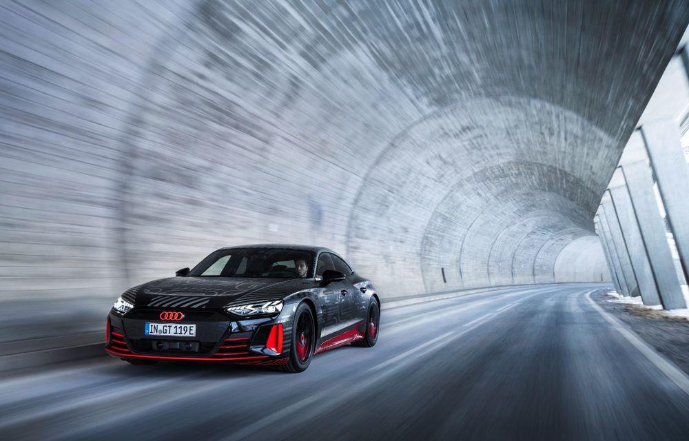 Imagini noi cu Audi e-tron GT: modelul electric va fi prezentat oficial în 9 februarie - Poza 8