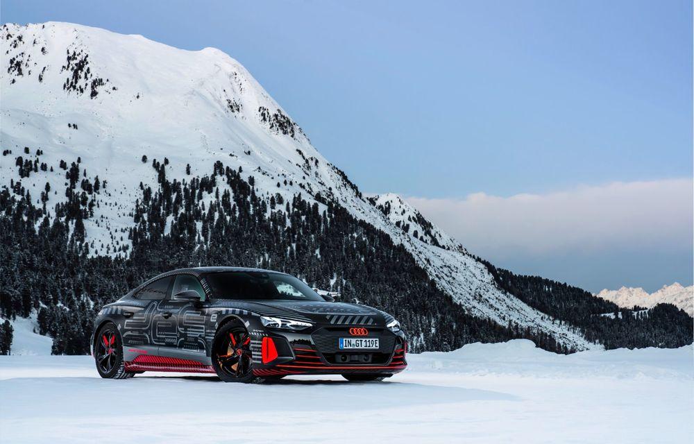 Imagini noi cu Audi e-tron GT: modelul electric va fi prezentat oficial în 9 februarie - Poza 6