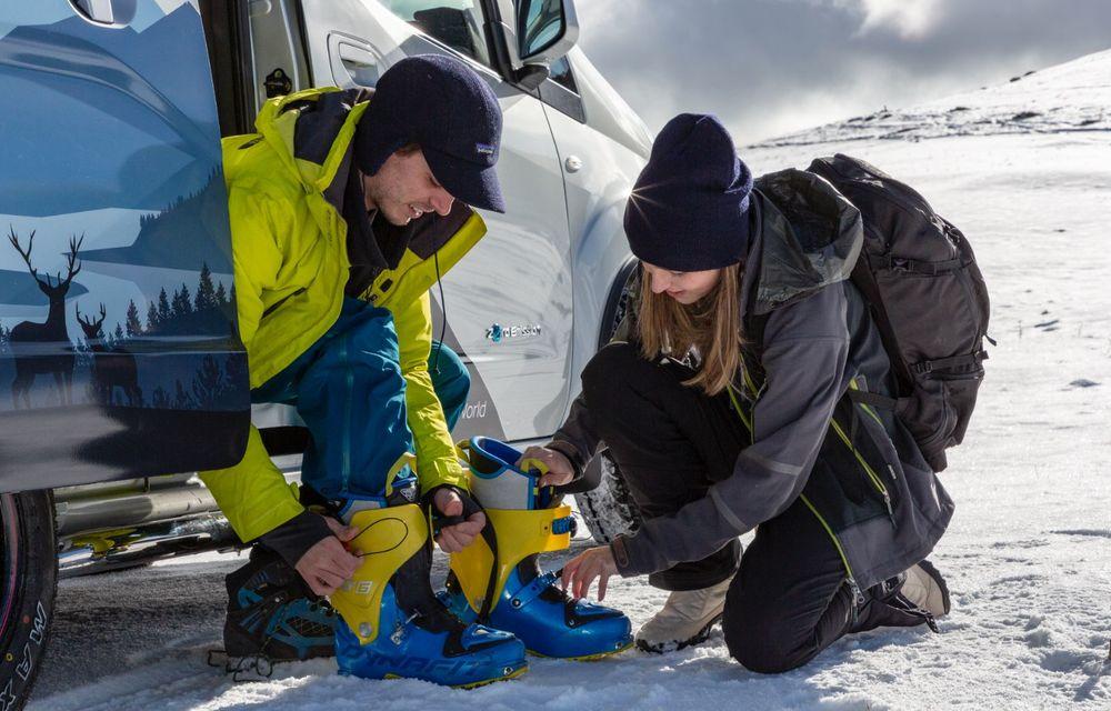 Nissan e-NV200 Winter Camper este rulota electrică pentru o aventură invernală - Poza 5