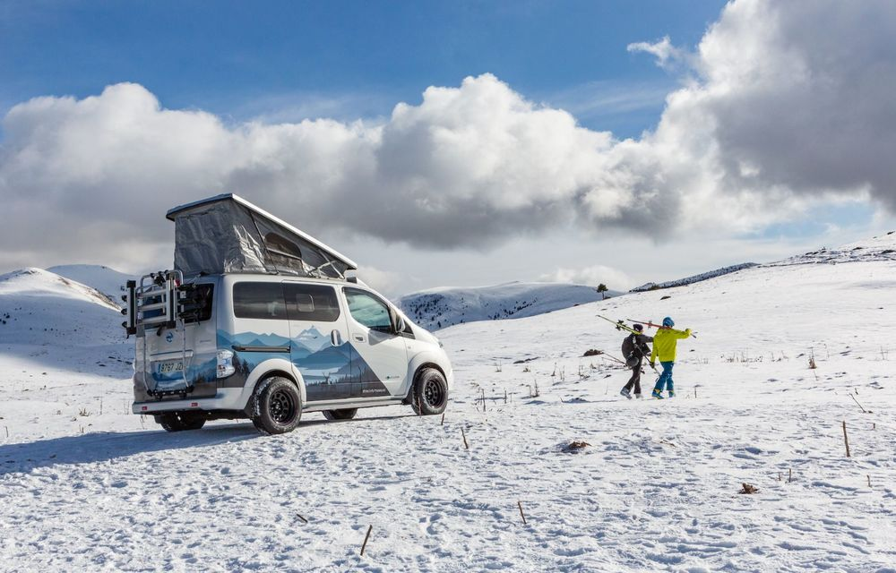Nissan e-NV200 Winter Camper este rulota electrică pentru o aventură invernală - Poza 3