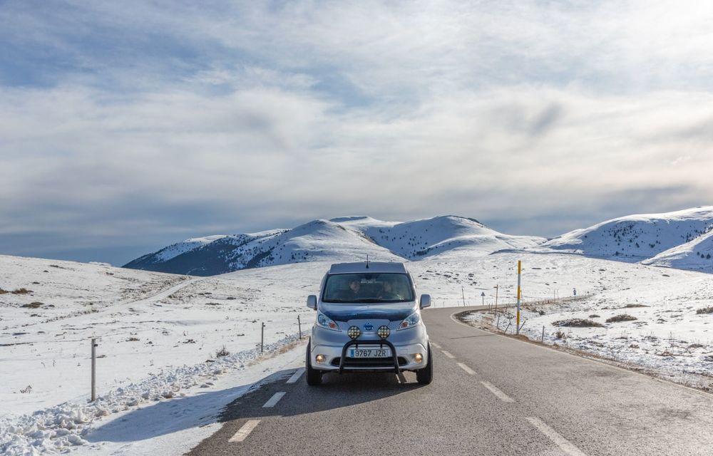 Nissan e-NV200 Winter Camper este rulota electrică pentru o aventură invernală - Poza 14