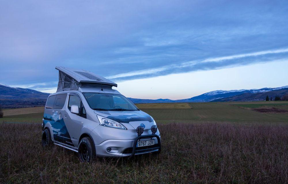 Nissan e-NV200 Winter Camper este rulota electrică pentru o aventură invernală - Poza 8
