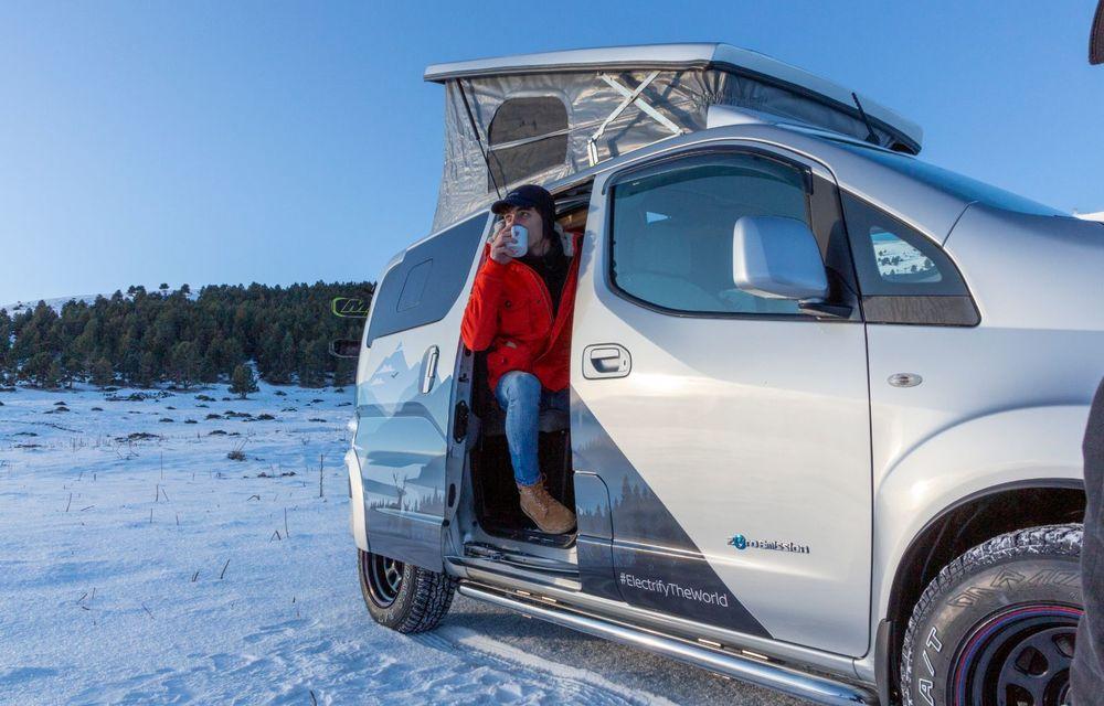 Nissan e-NV200 Winter Camper este rulota electrică pentru o aventură invernală - Poza 7