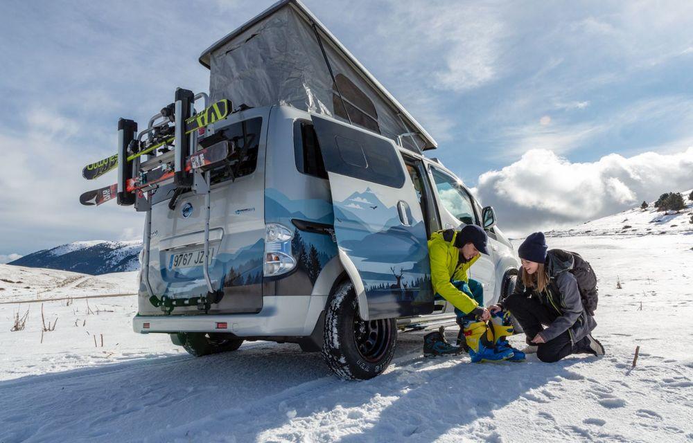 Nissan e-NV200 Winter Camper este rulota electrică pentru o aventură invernală - Poza 4