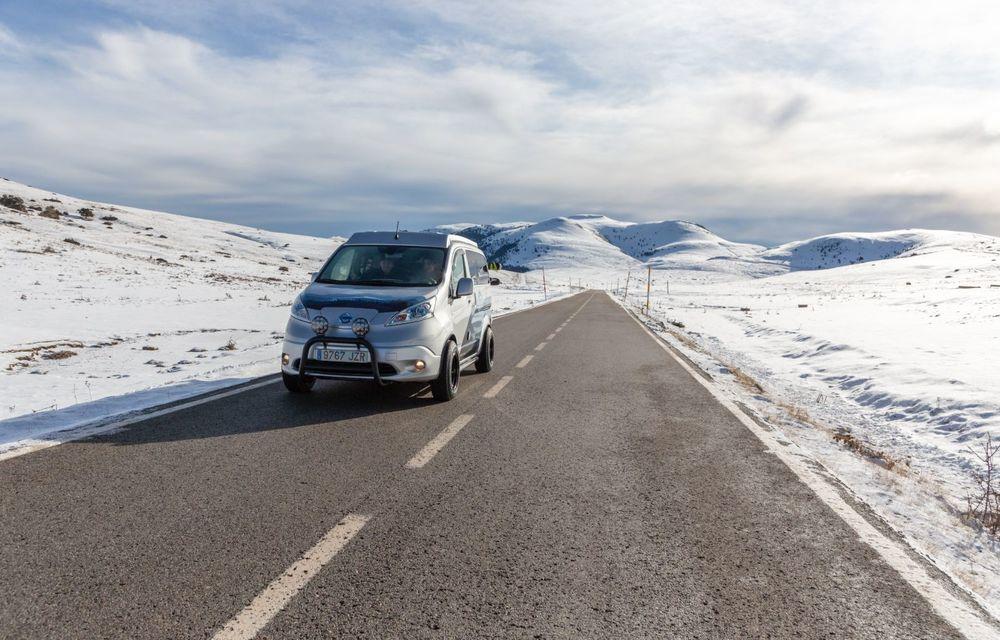Nissan e-NV200 Winter Camper este rulota electrică pentru o aventură invernală - Poza 13