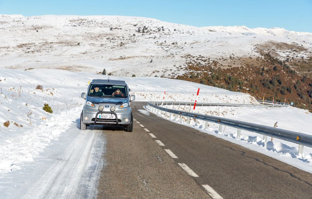 Nissan e-NV200 Winter Camper este rulota electrică pentru o aventură invernală - Poza 15