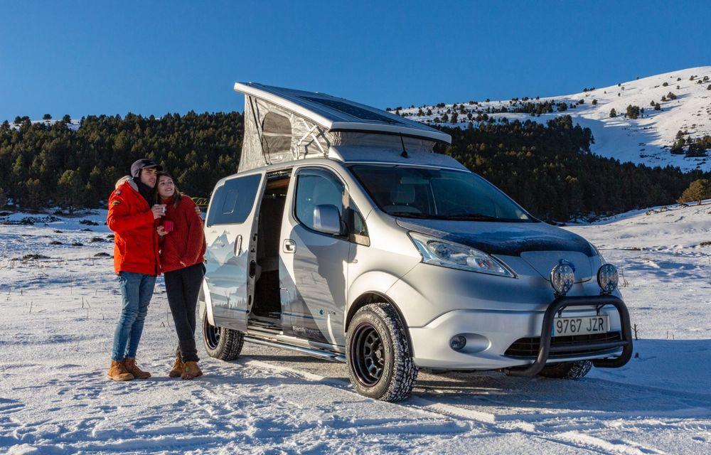 Nissan e-NV200 Winter Camper este rulota electrică pentru o aventură invernală - Poza 1