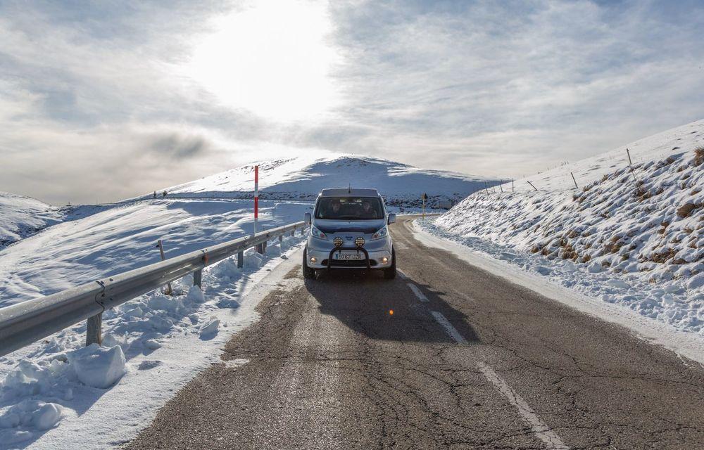 Nissan e-NV200 Winter Camper este rulota electrică pentru o aventură invernală - Poza 17