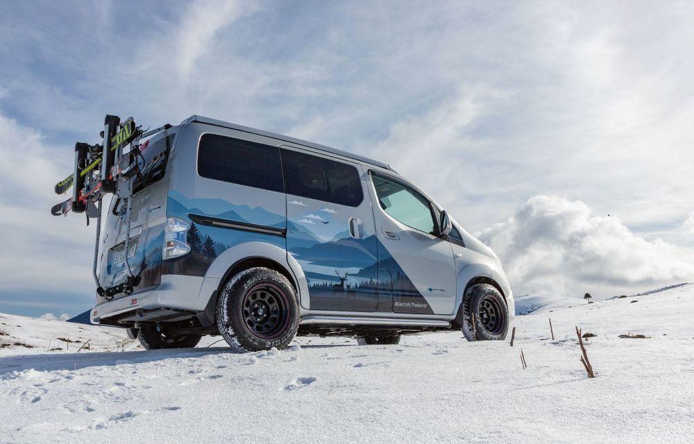 Nissan e-NV200 Winter Camper este rulota electrică pentru o aventură invernală - Poza 2