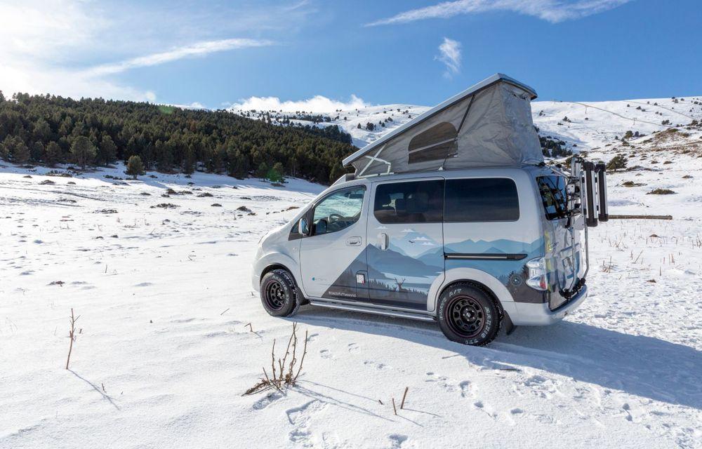 Nissan e-NV200 Winter Camper este rulota electrică pentru o aventură invernală - Poza 6
