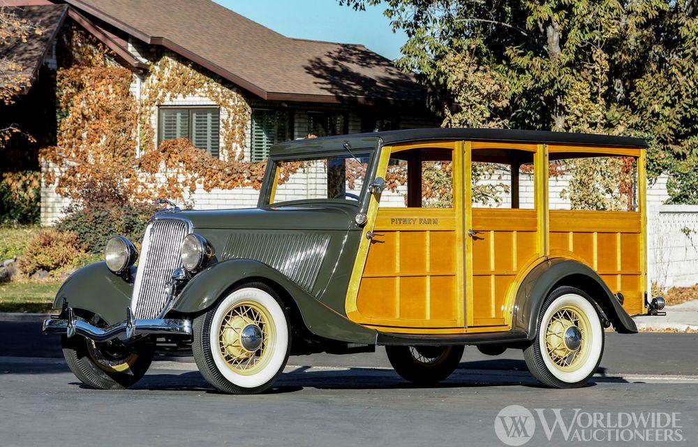Mașini cu caroserie din lemn: șase exemplare foarte rare, scoase la iveală în America - Poza 41