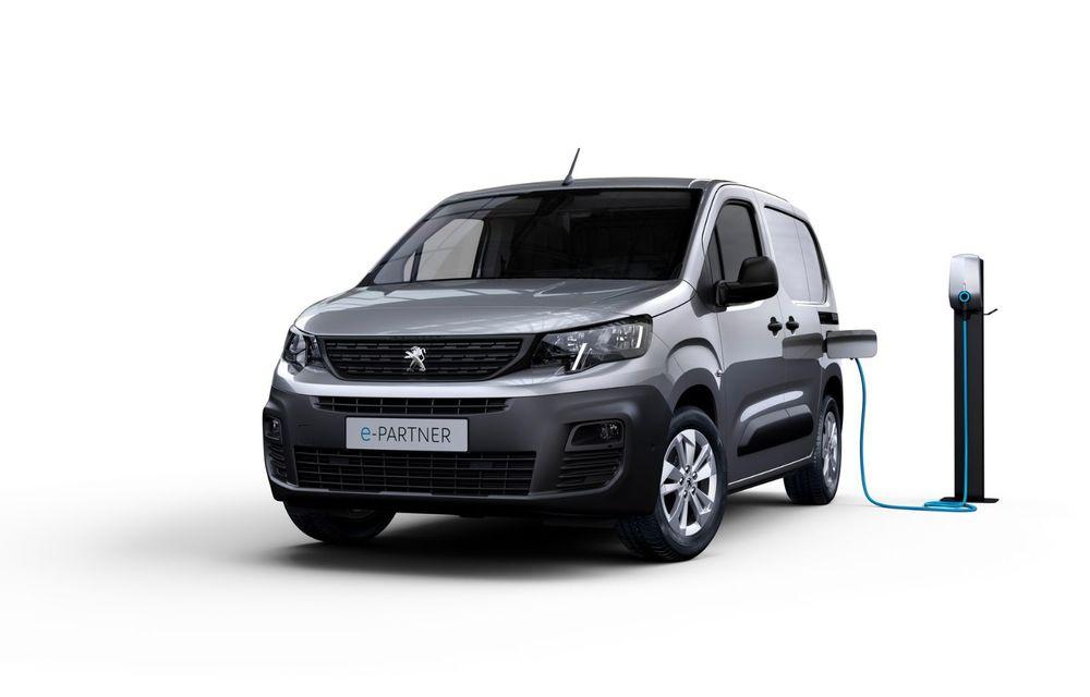 Peugeot lansează noul e-Partner: motor electric cu 136 CP și 275 de kilometri autonomie - Poza 1