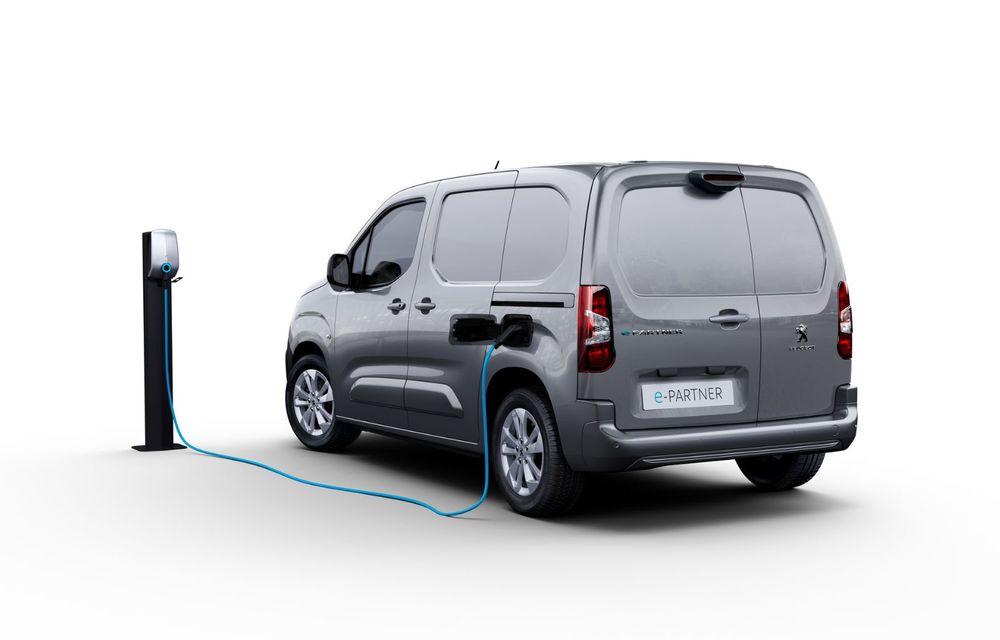 Peugeot lansează noul e-Partner: motor electric cu 136 CP și 275 de kilometri autonomie - Poza 5