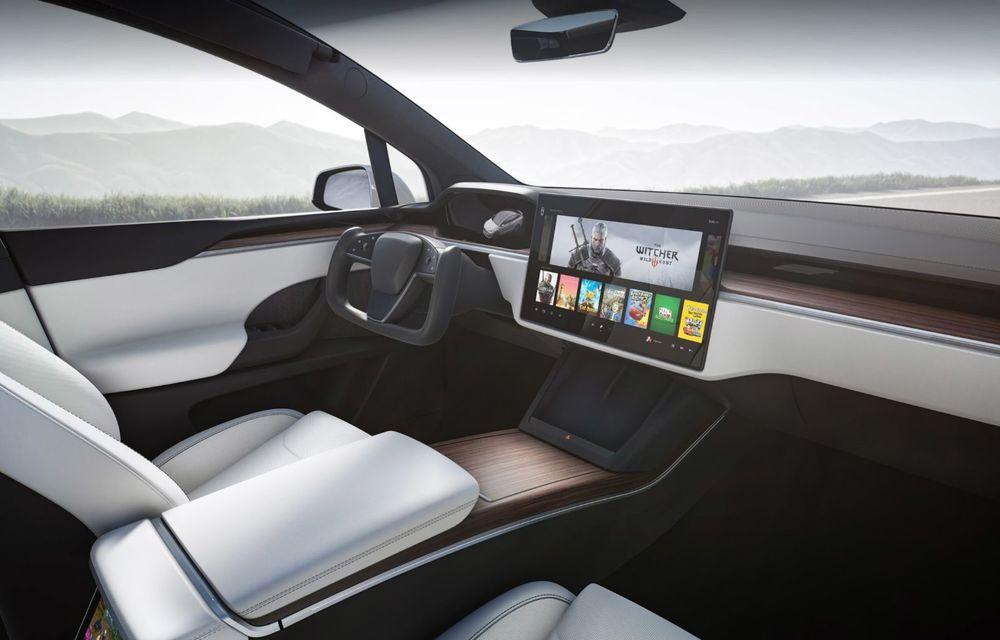 Tesla Model X facelift: până la 1020 CP și un volan care stârnește multe controverse - Poza 4