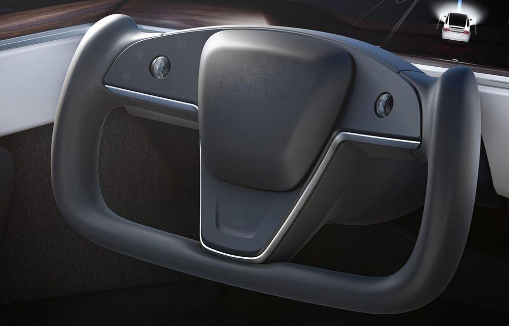 Tesla Model X facelift: până la 1020 CP și un volan care stârnește multe controverse - Poza 6