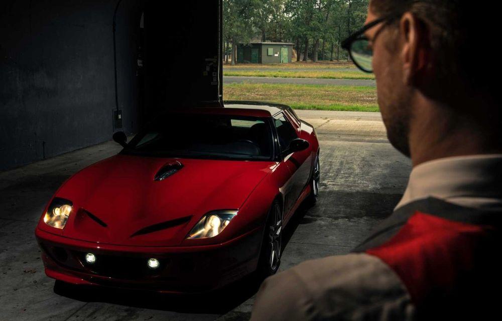 """Replica modernă a unui Ferrari din 1962, botezat """"mașina de pâine: Breadvan Hommage - Poza 4"""