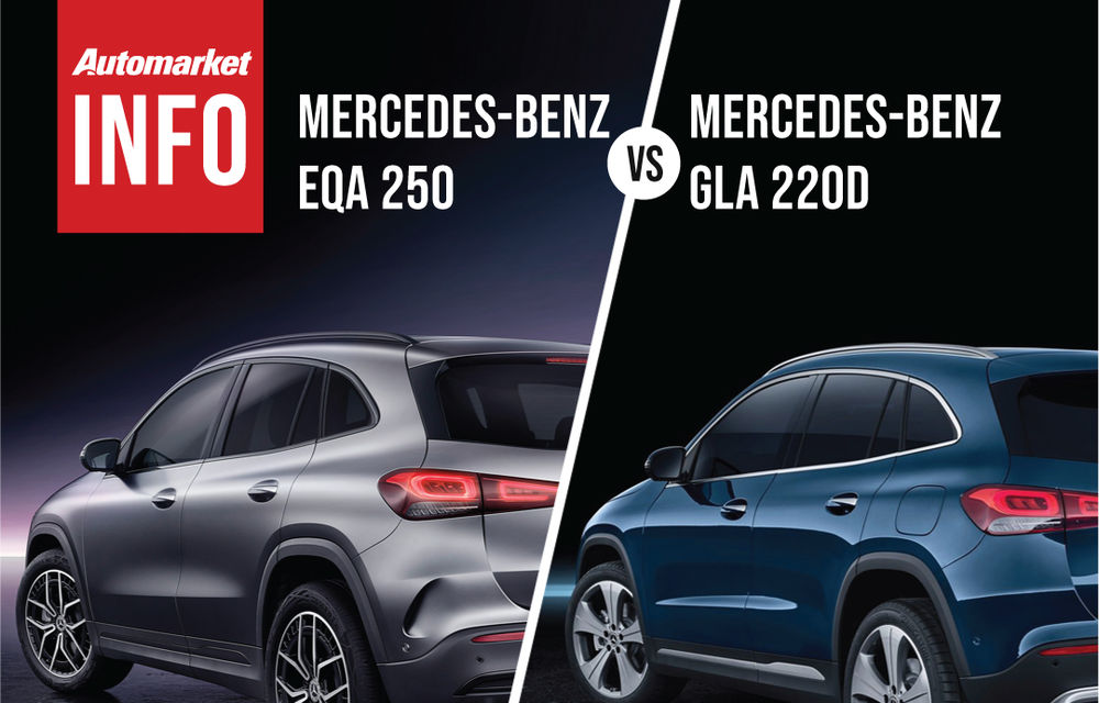 AUTOMARKET INFO: Comparație între Mercedes-Benz EQA și Mercedes-Benz GLA - Poza 3