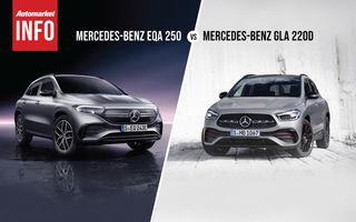 AUTOMARKET INFO: Comparație între Mercedes-Benz EQA și Mercedes-Benz GLA