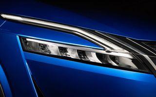 Prima imagine cu farurile noului Nissan Qashqai: noua generație se lansează în 18 februarie