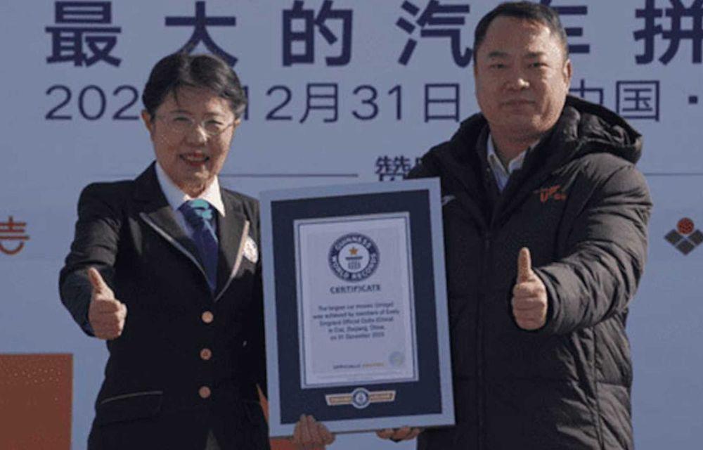 Chinezii de la Geely au intrat în Cartea Recordurilor cu cel mai mare mozaic format din mașini - Poza 5