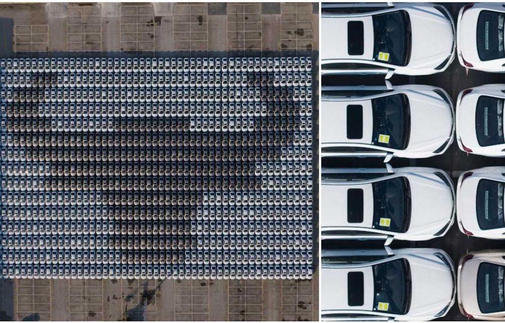Chinezii de la Geely au intrat în Cartea Recordurilor cu cel mai mare mozaic format din mașini - Poza 1