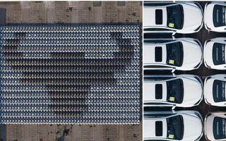 Chinezii de la Geely au intrat în Cartea Recordurilor cu cel mai mare mozaic format din mașini
