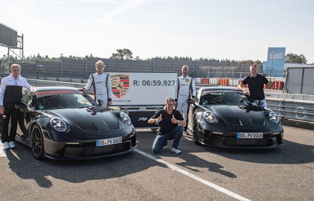 Noul Porsche 911 GT3 este aici: motor de 510 cai putere și apetit pentru circuit - Poza 24