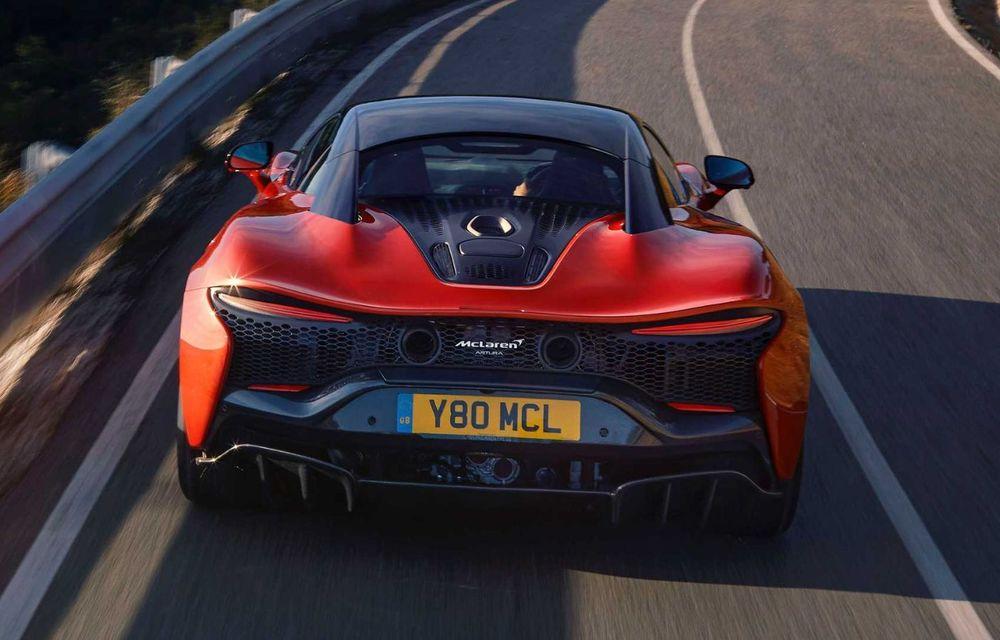 McLaren Artura: cel mai economic model din istoria englezilor vine cu motor hibrid și 671 de cai putere - Poza 34