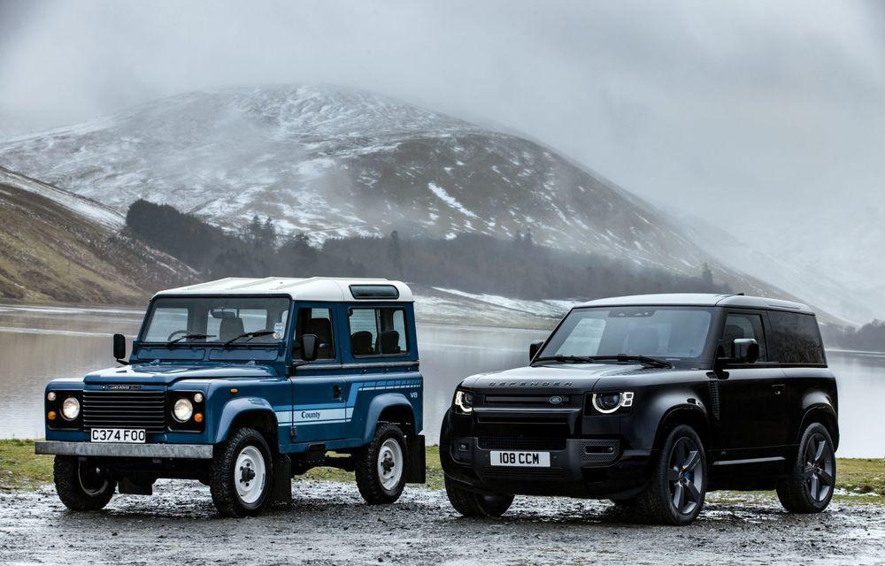 Land Rover Defender a primit un motor V8 supraalimentat. Unitatea dezvoltă 525 de cai putere - Poza 2