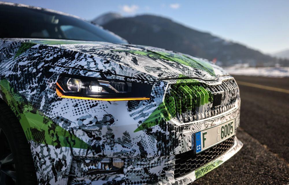 Detalii complete despre noua Skoda Fabia: platformă nouă și gamă de motorizări fără diesel - Poza 12