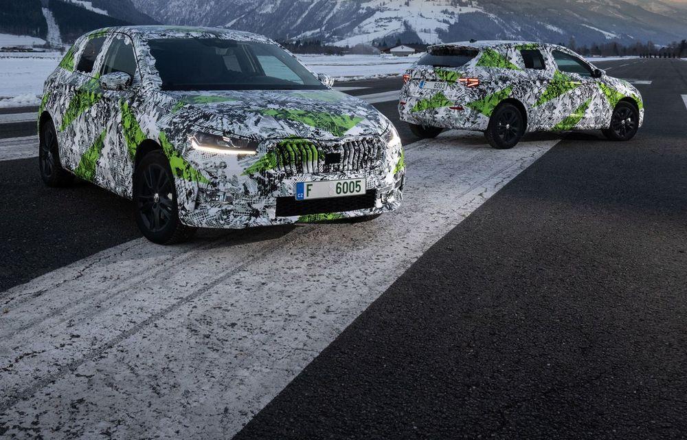 Detalii complete despre noua Skoda Fabia: platformă nouă și gamă de motorizări fără diesel - Poza 16