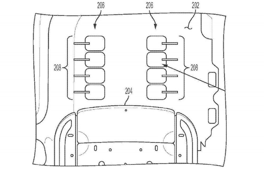 General Motors a înregistrat o invenție inedită: masaj pentru picioare, integrat în podea - Poza 2