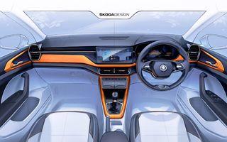 OFICIAL: Primele schițe cu interiorul noului Skoda Kushaq, SUV-ul creat special pentru India