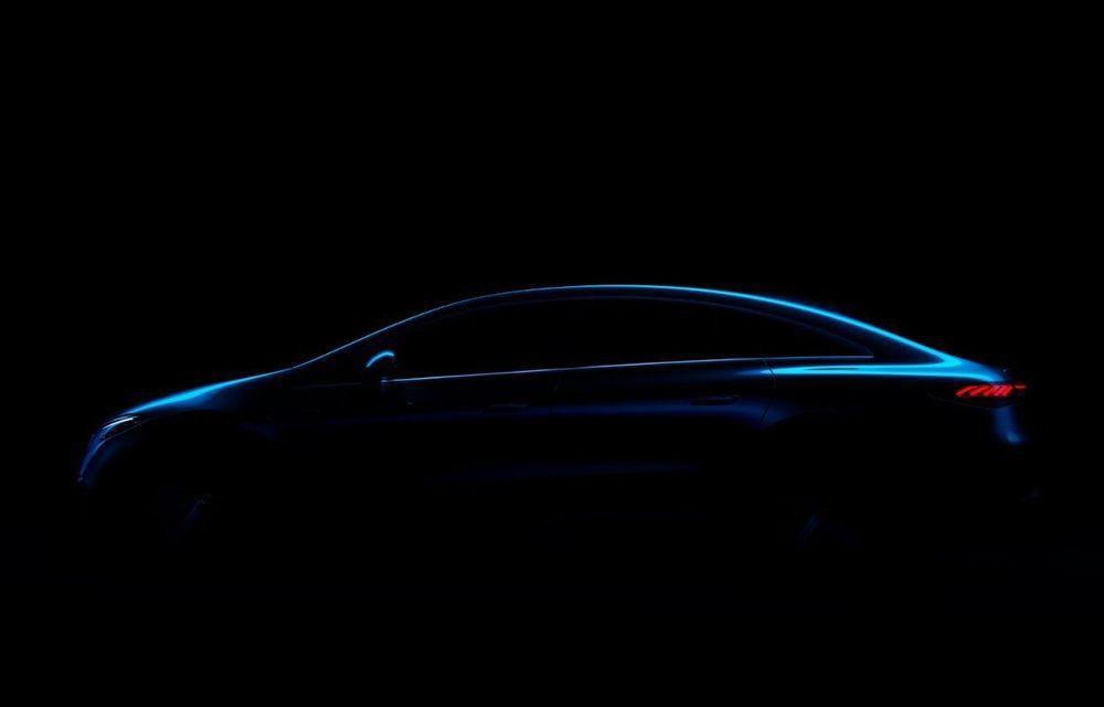 Un nou teaser pentru Mercedes EQS: sedanul electric promite o autonomie de 700 de kilometri - Poza 1