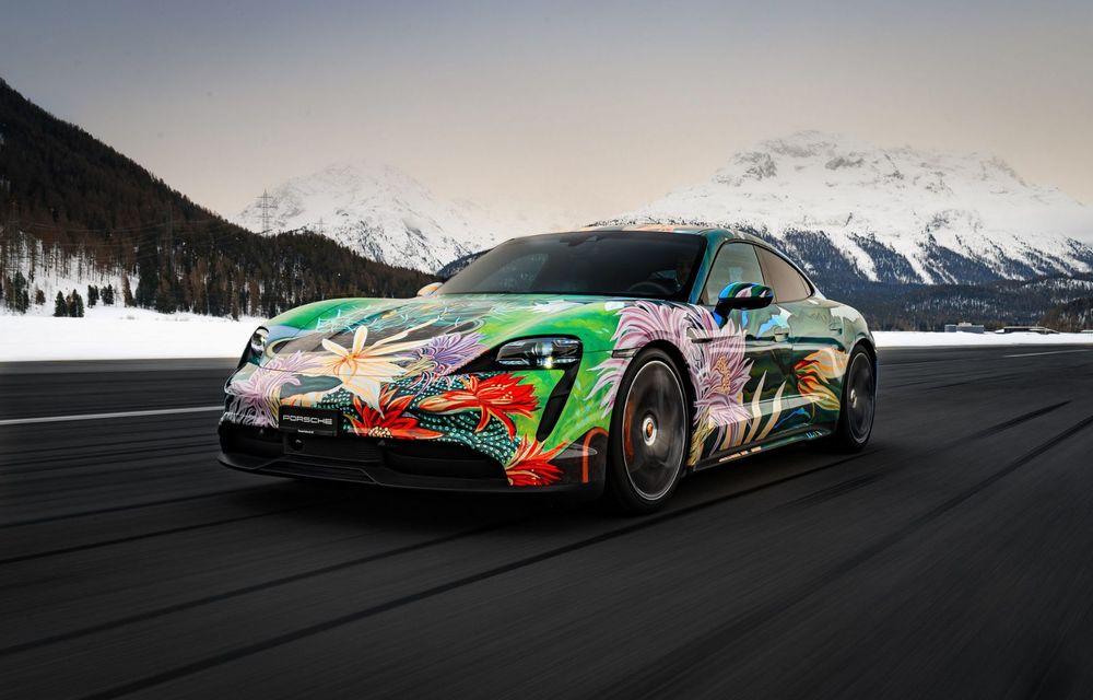 După BMW, și Porsche dă naștere unui Art Car: acest Taycan 4S unic va fi scos la licitație - Poza 1