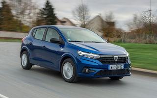 Dacia Sandero a depășit Renault Clio în Franța. Este al doilea cel mai vândut vehicul din țară