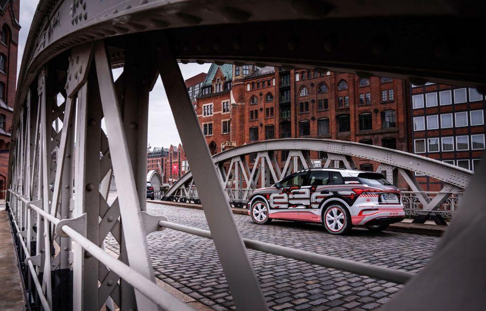 Audi Q4 e-tron: primele imagini și informații din interiorul SUV-ului electric - Poza 23