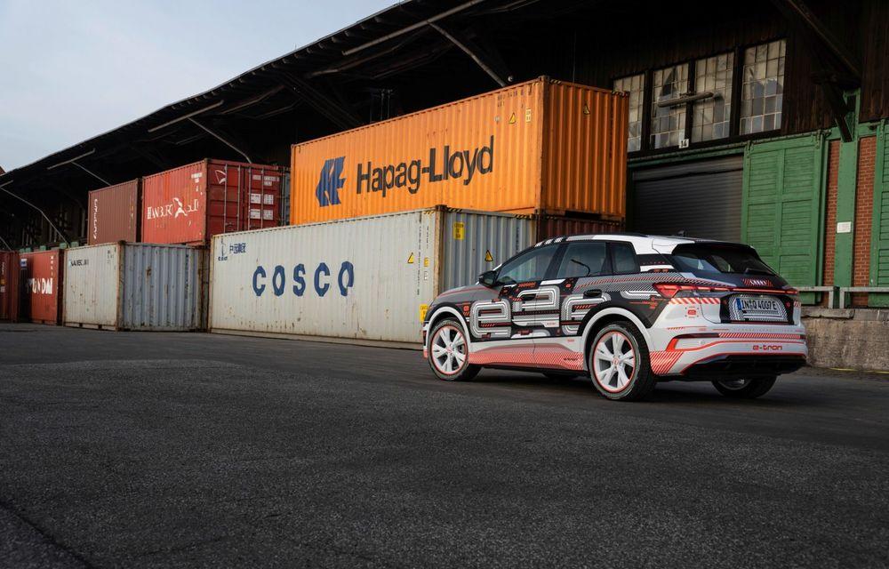 Audi Q4 e-tron: primele imagini și informații din interiorul SUV-ului electric - Poza 27