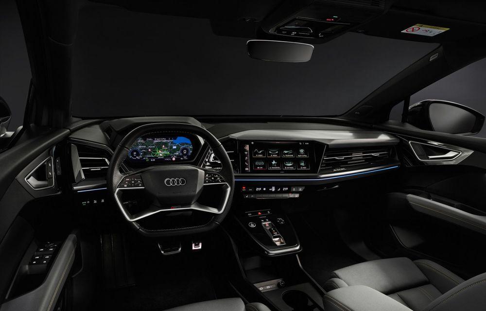 Audi Q4 e-tron: primele imagini și informații din interiorul SUV-ului electric - Poza 10