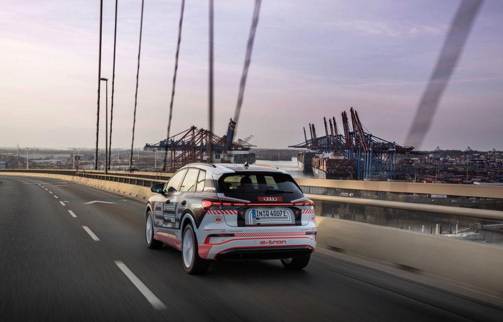 Audi Q4 e-tron: primele imagini și informații din interiorul SUV-ului electric - Poza 47