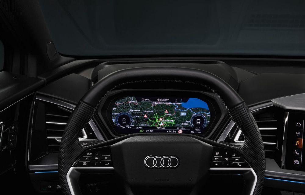 Audi Q4 e-tron: primele imagini și informații din interiorul SUV-ului electric - Poza 18