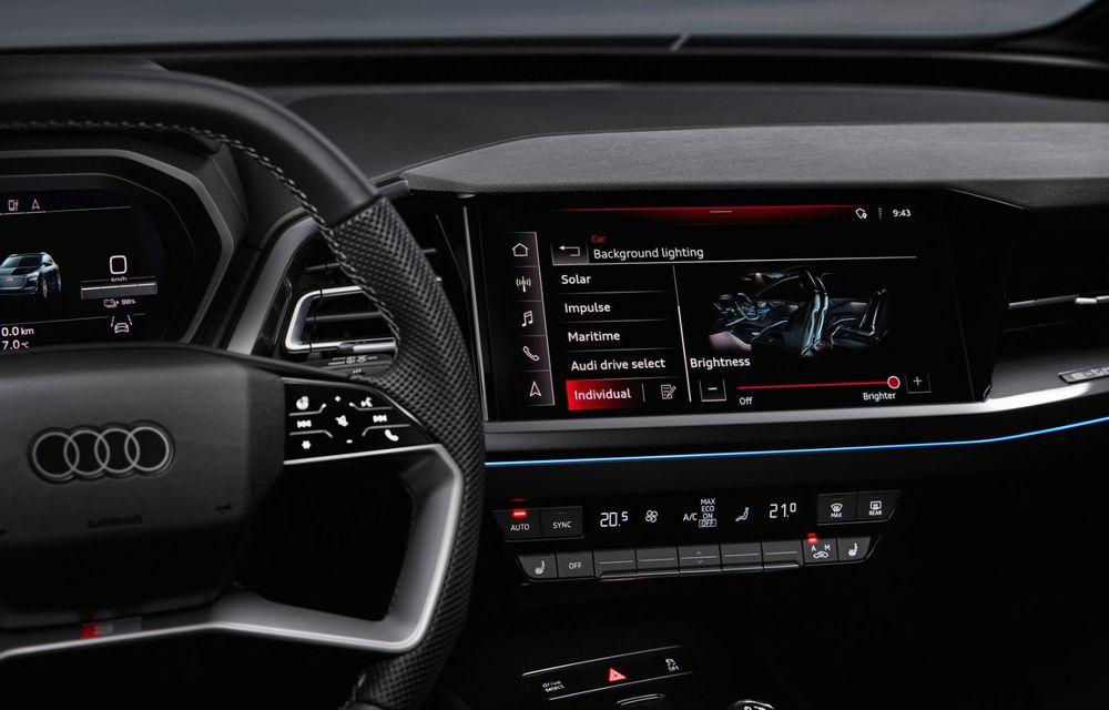 Audi Q4 e-tron: primele imagini și informații din interiorul SUV-ului electric - Poza 14