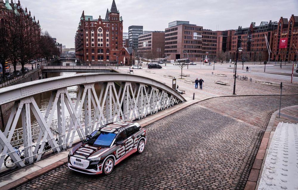 Audi Q4 e-tron: primele imagini și informații din interiorul SUV-ului electric - Poza 24