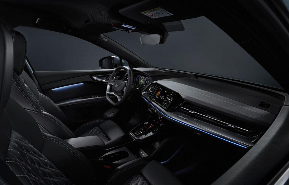 Audi Q4 e-tron: primele imagini și informații din interiorul SUV-ului electric - Poza 3
